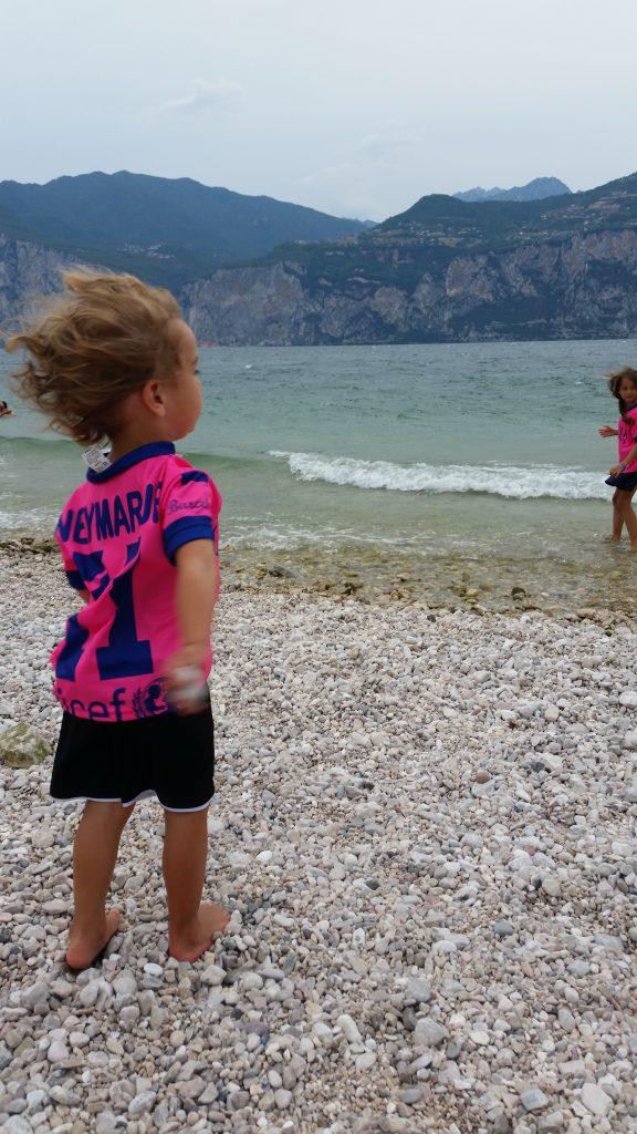 Gardasee mit Kindern Wind in Malcesine am Gardasee